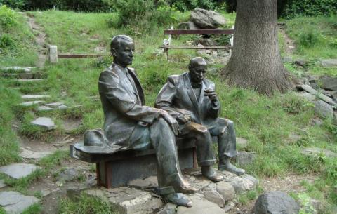 Памятник Й. Бокшай І А. Ерделі - Ужгород