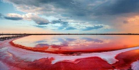 """Рожеве озеро Херсон """"Мертве море"""""""