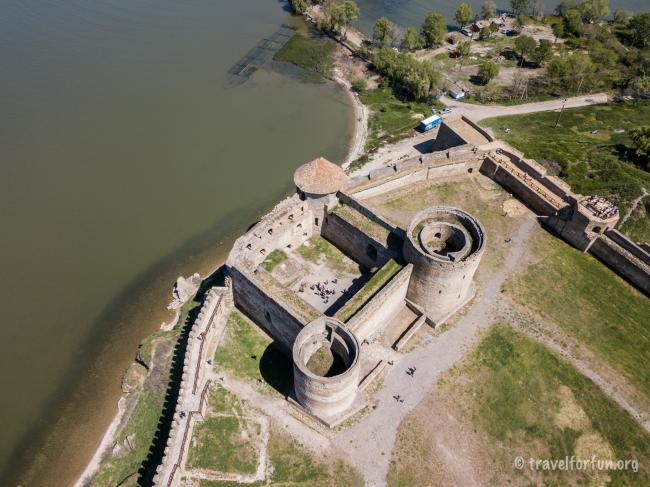 фото Аккерманської фортеці з квадрокоптера