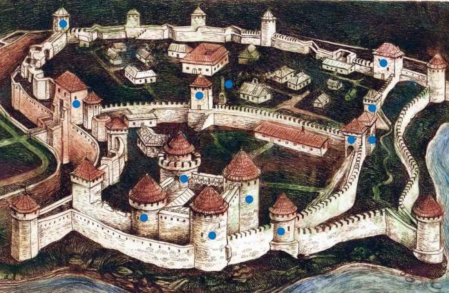 схема Аккерманської фортеці
