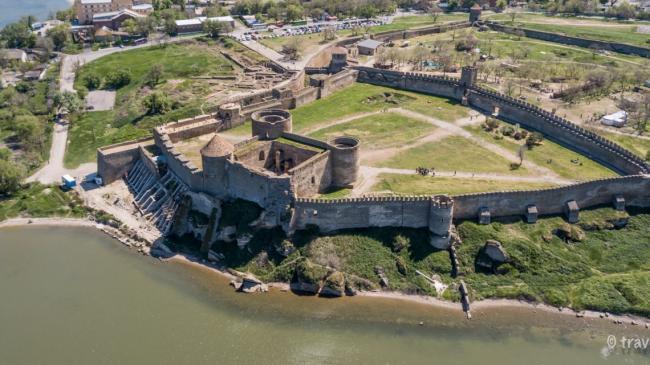 фото Аккерманської фортеці з неба