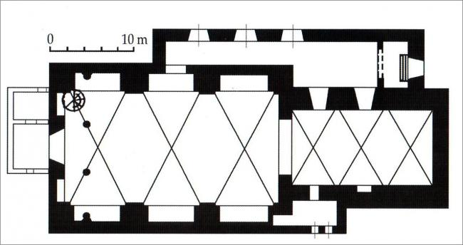 The plan of the building of the Church of St. Casimir